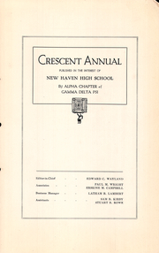 Page 13, 1920 Edition, New Haven High School - Elm Tree Yearbook (New Haven, CT) online yearbook collection