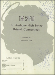 Page 5, 1958 Edition, St Anthony High School - Shield Yearbook (Bristol, CT) online yearbook collection