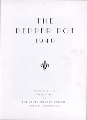 Page 6, 1940 Edition, Walker High School - Pepper Pot Yearbook (Simsbury, CT) online yearbook collection
