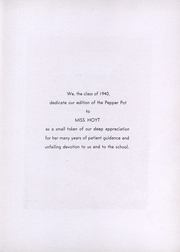Page 8, 1940 Edition, Walker High School - Pepper Pot Yearbook (Simsbury, CT) online yearbook collection