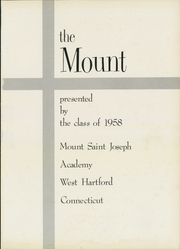 Page 5, 1958 Edition, Mount St Joseph Academy - Mount Yearbook (West Hartford, CT) online yearbook collection