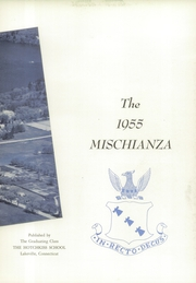 Page 7, 1955 Edition, Hotchkiss School - Mischianza Yearbook (Lakeville, CT) online yearbook collection
