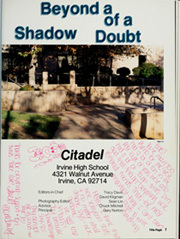 Page 5, 1988 Edition, Irvine High School - Citadel Yearbook (Irvine, CA) online yearbook collection