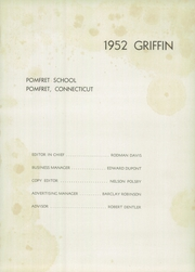 Page 5, 1952 Edition, Pomfret School - Griffin Yearbook (Pomfret, CT) online yearbook collection