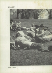 Page 6, 1952 Edition, Pomfret School - Griffin Yearbook (Pomfret, CT) online yearbook collection