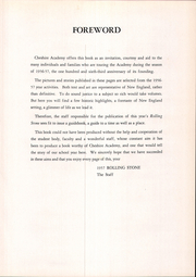 Page 11, 1957 Edition, Cheshire Academy - Rolling Stone Yearbook (Cheshire, CT) online yearbook collection