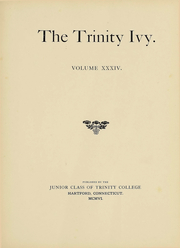 Page 8, 1907 Edition, Trinity College - Ivy Yearbook (Hartford, CT) online yearbook collection