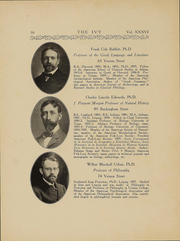 Page 17, 1909 Edition, Trinity College - Ivy Yearbook (Hartford, CT) online yearbook collection