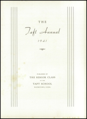 Page 7, 1941 Edition, Taft School - Taft Annual Yearbook (Watertown, CT) online yearbook collection
