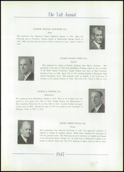 Page 17, 1945 Edition, Taft School - Taft Annual Yearbook (Watertown, CT) online yearbook collection