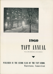 Page 5, 1960 Edition, Taft School - Taft Annual Yearbook (Watertown, CT) online yearbook collection