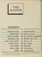 Page 6, 1988 Edition, Fairfield University - Manor Yearbook (Fairfield, CT) online yearbook collection