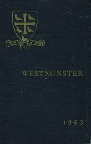 1953 Edition, Westminster School - Annual Yearbook (Simsbury, CT)