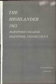 Page 7, 1963 Edition, Hartford College for Women - Highlander Yearbook (Hartford, CT) online yearbook collection