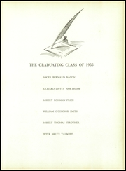 Page 11, 1955 Edition, King School - Kingsmen Yearbook (Stamford, CT) online yearbook collection