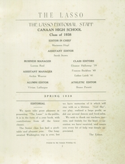 Page 3, 1938 Edition, Canaan High School - Lasso Yearbook (Canaan, CT) online yearbook collection