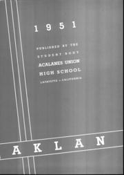 Page 3, 1951 Edition, Acalanes High School - Aklan Yearbook (Lafayette, CA) online yearbook collection
