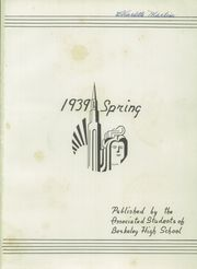 Page 5, 1939 Edition, Berkeley High School - Berkeley High School Yearbook (Berkeley, CA) online yearbook collection