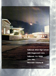 Page 5, 1982 Edition, Fallbrook Union High School - Moccasin Yearbook (Fallbrook, CA) online yearbook collection