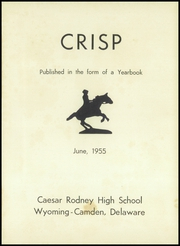 Page 5, 1955 Edition, Caesar Rodney High School - Crisp Yearbook (Wyoming, DE) online yearbook collection