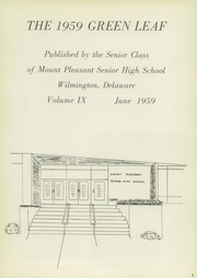 Page 7, 1959 Edition, Mount Pleasant High School - Green Leaf Yearbook (Wilmington, DE) online yearbook collection