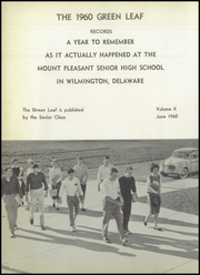 Page 6, 1960 Edition, Mount Pleasant High School - Green Leaf Yearbook (Wilmington, DE) online yearbook collection
