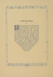 Page 10, 1930 Edition, University of Delaware Womens College - Blue and Gold Yearbook (Newark, DE) online yearbook collection