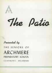 Page 6, 1940 Edition, Archmere Academy - Patio Yearbook (Claymont, DE) online yearbook collection