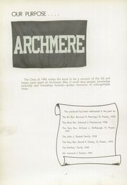 Page 8, 1942 Edition, Archmere Academy - Patio Yearbook (Claymont, DE) online yearbook collection