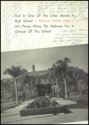 Page 9, 1954 Edition, Ventura High School - Black Gold Yearbook (Ventura, CA) online yearbook collection