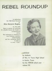 Page 5, 1960 Edition, William B Travis High School - Round Up Yearbook (Austin, TX) online yearbook collection