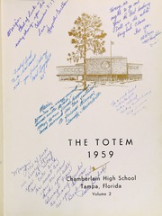 Page 5, 1959 Edition, Chamberlain High School - Totem Yearbook (Tampa, FL) online yearbook collection