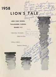 Page 5, 1958 Edition, Leon High School - Lions Tale Yearbook (Tallahassee, FL) online yearbook collection