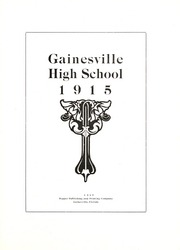 Page 5, 1915 Edition, Gainesville High School - Hurricane Yearbook (Gainesville, FL) online yearbook collection