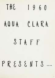 Page 5, 1960 Edition, Clearwater High School - Aqua Clara Yearbook (Clearwater, FL) online yearbook collection