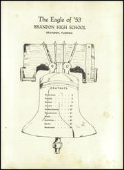 Page 5, 1953 Edition, Brandon High School - Eagle Yearbook (Brandon, FL) online yearbook collection