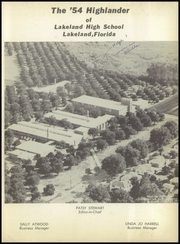 Page 7, 1954 Edition, Lakeland High School - Highlander Yearbook (Lakeland, FL) online yearbook collection