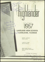 Page 7, 1957 Edition, Lakeland High School - Highlander Yearbook (Lakeland, FL) online yearbook collection