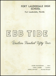 Page 5, 1954 Edition, Fort Lauderdale High School - Ebb Tide Yearbook (Fort Lauderdale, FL) online yearbook collection