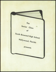 Page 5, 1957 Edition, South Broward High School - Browardier Yearbook (Hollywood, FL) online yearbook collection