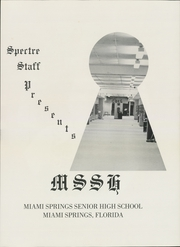Page 5, 1974 Edition, Miami Springs High School - Spectre Yearbook (Miami Springs, FL) online yearbook collection
