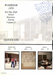 Page 8, 1978 Edition, East Bay High School - Warrior Yearbook (Gibsonton, FL) online yearbook collection