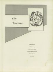 Page 7, 1954 Edition, Oviedo High School - Oviedian Yearbook (Oviedo, FL) online yearbook collection