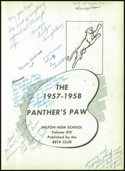 Page 5, 1958 Edition, Milton High School - Panthers Paw Yearbook (Milton, FL) online yearbook collection