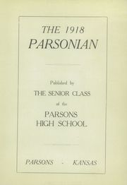 Page 5, 1918 Edition, Parsons High School - Norseman Yearbook (Parsons, KS) online yearbook collection