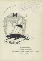 Page 5, 1957 Edition, Mulberry High School - Mulberry Tree Yearbook (Mulberry, FL) online yearbook collection