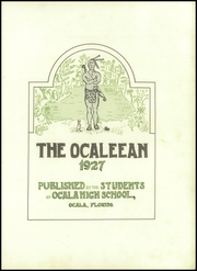 Page 9, 1927 Edition, Ocala High School - Ocaleean Yearbook (Ocala, FL) online yearbook collection