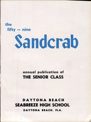 Page 9, 1959 Edition, Seabreeze High School - Sandcrab Yearbook (Daytona Beach, FL) online yearbook collection
