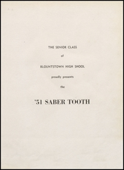 Page 5, 1951 Edition, Blountstown High School - Saber Tooth Yearbook (Blountstown, FL) online yearbook collection