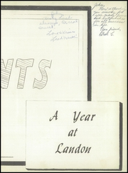 Page 7, 1956 Edition, Landon High School - Landonian Yearbook (Jacksonville, FL) online yearbook collection